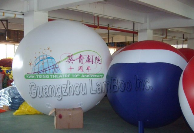 HOT SALE FREE SHIPPING 3 meters BIG Inflatable Helium Balloon for Events/Print Different LOGOS for you