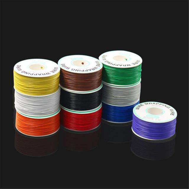 250 m 30 AWG 10 Color Jumper Wire Wrapping Wire Single Strand Copper Cable Ok Wire Electrical Wire Laptop Motherboard PCB Solder