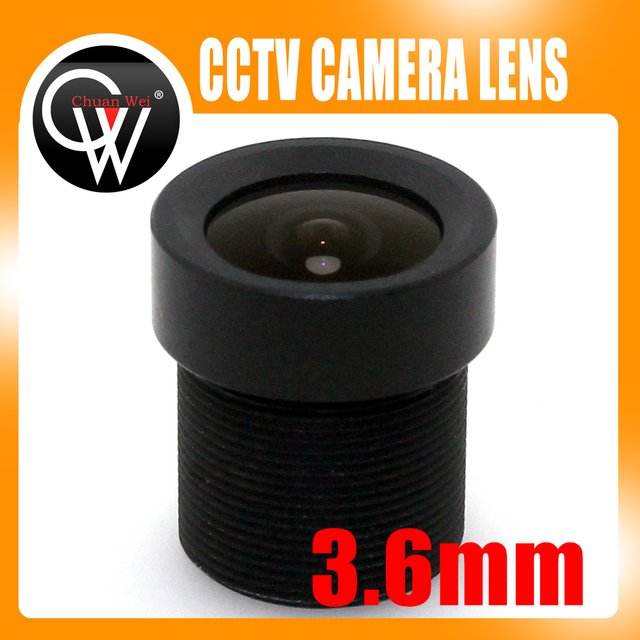 10pcs/lot New 3.6mm Lens CCTV Board Lens 80 Degrees For CCTV Security Camera Free Shipping