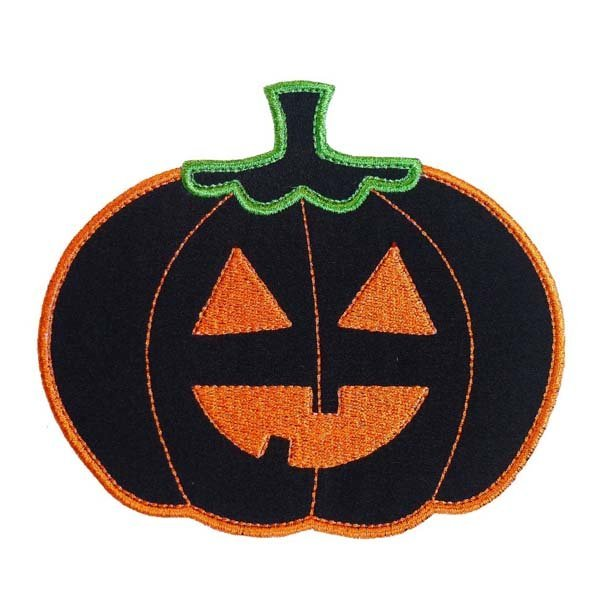 Patches for Clothes Embroidery Pumpkin Made by Flat Border with Iron On Back Accept Small Order and the MOQ50pcs free shipping