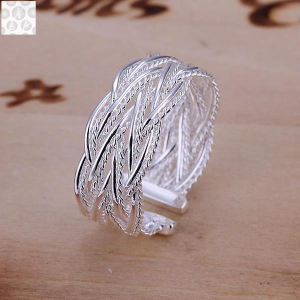 R023 Silver color plated jewelry Hot sell new design finger ring for lady