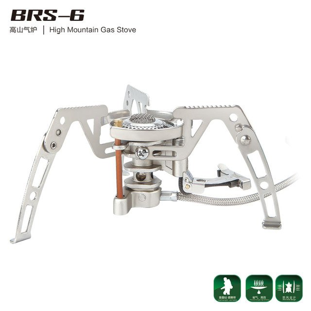 BRS-6 High Altitude Gas Stove Outdoor Camping Stove Portable Camping Cookware for Cooking Picnic Gas Furnace