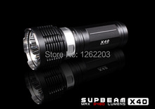 3*Cree XM-L2 LED Infinite Brightness 3480 lumen LED flashlight SUPBEAM LED flashlight -X40(L2 Version)