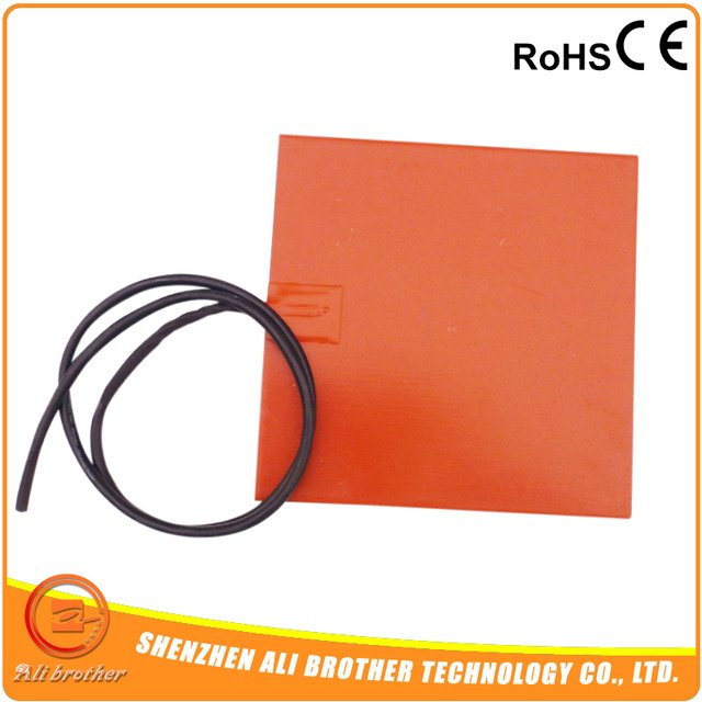CE/TUV Flexible Silicone 12v Heater 300x300mm 270w, 100k thermistor, 3M