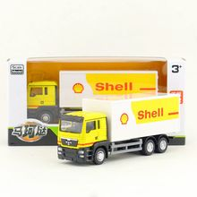 RMZ City/Diecast Toy Car Model/1:64 Scale/MAN Shell Container Delivery Truck/Vehicle Educational Collection/Gift For Children