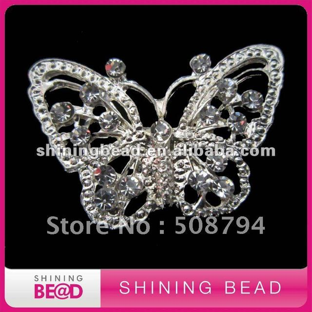 fashion design rhinestone brooch pin,free shipping,butterfly rhinestone brooch for wedding decoration,hot sale rhinestone brooch