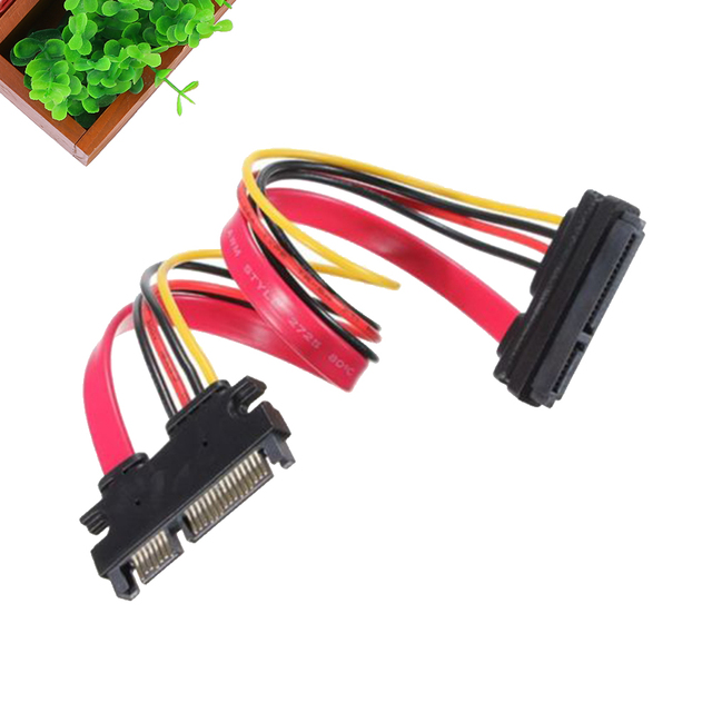 Male to Female M/F SATA Hard Drive HDD Extension Cable 7+15Pin Data Cable