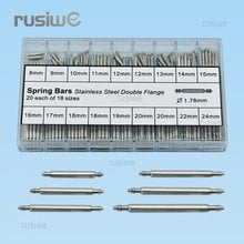 Double Flange Watch Spring Bars Diameter 1.78mm Stainless Steel Spring Bars Watch Band  Link Pin  Watch Parts