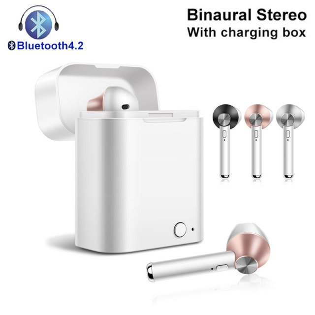 Headphones Music Playing Charging Box Mini Earbuds Hand Free Heavy Bass One Pair Speaker TWS Earphones Mobile Phone