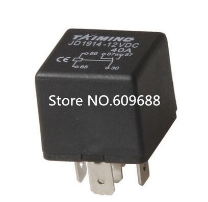 DC12V 40Aclamp type auto relay JD1914 ,5 pins