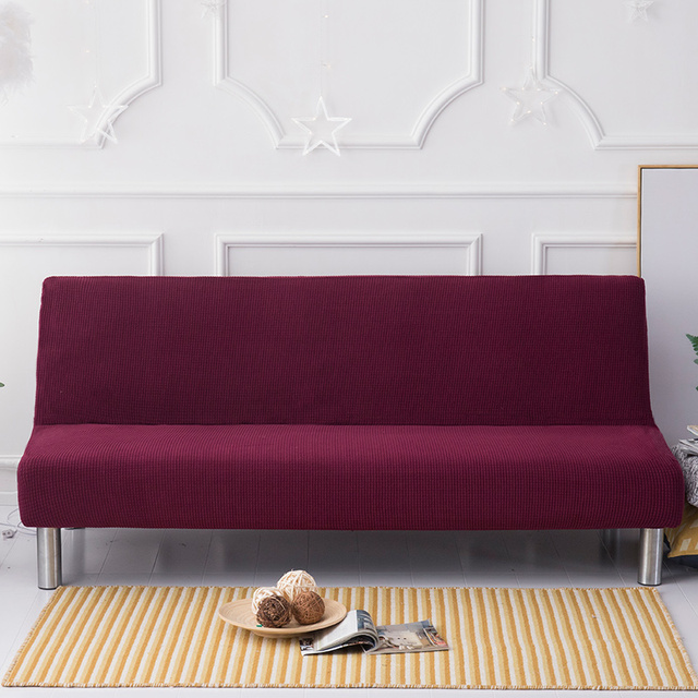 Dark Wine Red Upholstered Tufted Sofa Cover Sofa Slipcovers Couch Slipcovers Covers Armless Sofa Cover
