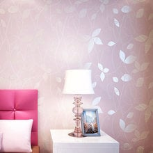 Non-woven Floral Wallpapers 3D Flower Wall Paper Covering For Living Room Bedroom Home Decorative Wallpaper 3D Papel De Parede