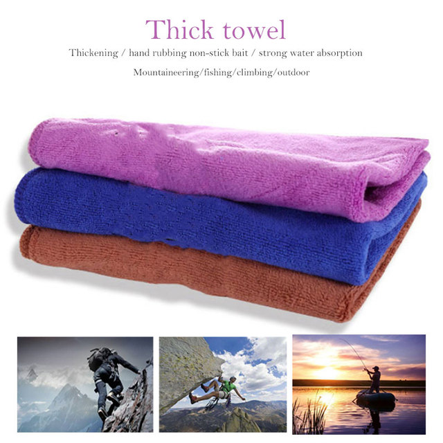 Random Color Durable Wipe Towel Outdoors Buckles Fishing Accessories Sports Towel Portable Fishing Towel Travel Yoga Towels