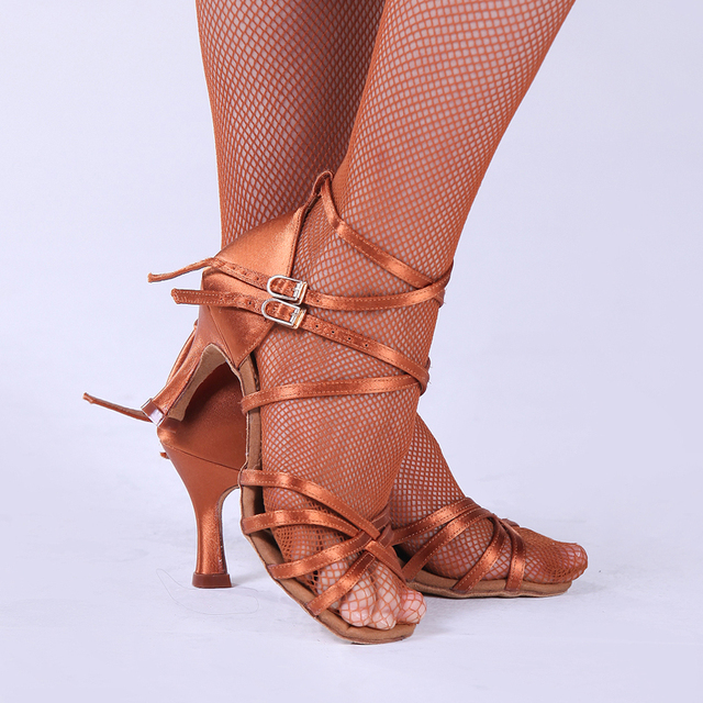 Salsa Dance Shoes Party Ballroom Latin Dance Shoes Modern Women Shoe Fitness Breathable Dancing Sneakers Brown Discounts BD 205