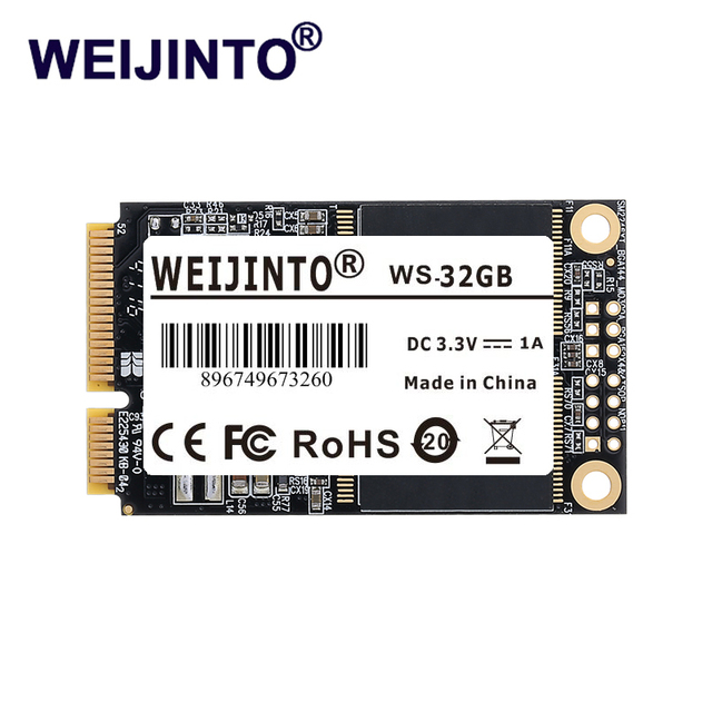WEIJINTO MSATA MSATA2 II SSD Most Competitive Series 16GB 32GB 8GB Solid State Disk Drive Hard Disk for notebook computer