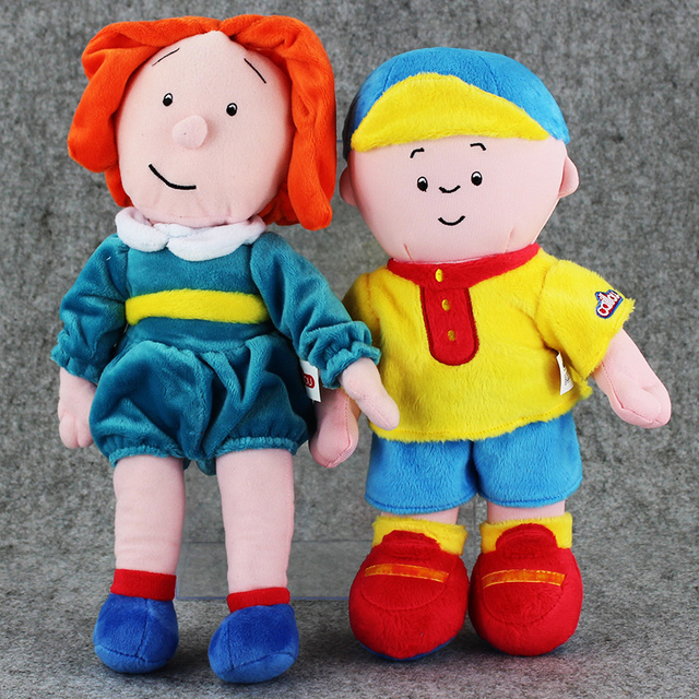 30-32cm Canada Cartoon Caillou Plush Toy Caillou Sister Rosie Stuffed Doll Gift for Children