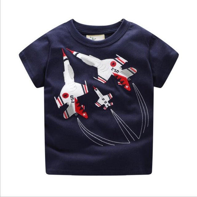 NEAT Casual style baby boy clothes 2018 Short sleeve Boy T-shirt Applique embroidery 100% cotton summer children clothing 6807