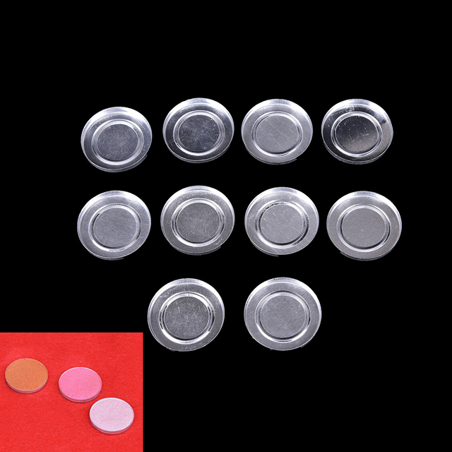 10Pcs Makeup Cosmetic Empty Aluminum Cases Pans For Eyeshadow Eye Shadow Container Pans Palette Case DIY Makeup Tool