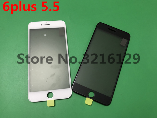 50pcs Cold Press Replacement LCD Front Touch Screen Glass Outer Lens with frame OCA+Polarized film for iphone 6 plus 5.5inch