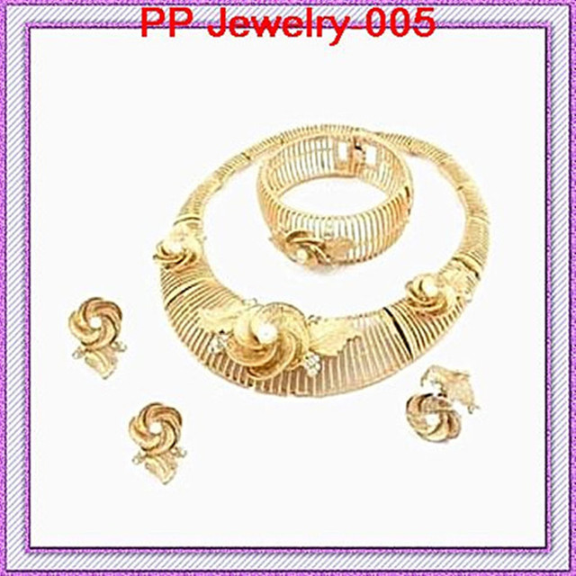 100% Quality Guarantee African Style  Gold Color Fashion Elegant jewelry sets!!Wedding Bridal Jewelry