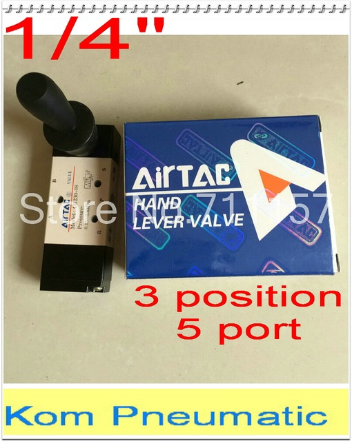 """10pcs/lot Fedex Free Shipping 1/4"""" 5 way 3 position Pneumatic Air Hand Lever Control Manual Valve 4H230-08"""