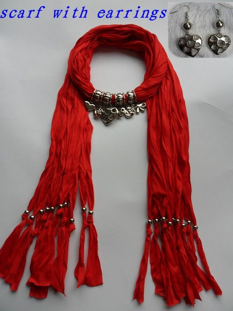 Valentines Gift pendant scarves womens fashion necklace jewelry scarf hot selling Wholesale free shipping