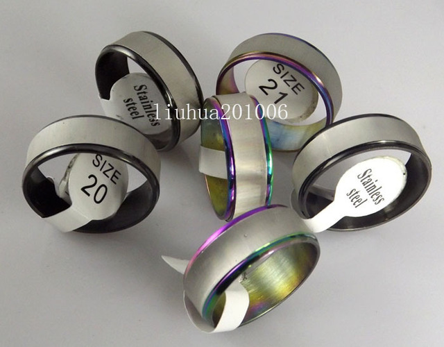 Wholesale NEW STYLE Color mix Stainless Steel Rings Fashion Jewelry 36 pc/lot Mixed Order Free Shipping