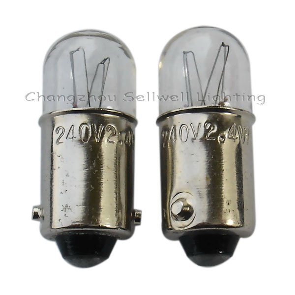 Miniature Lamp Bulbs Lighting Ba9s T10x24 240v 2.4w Ce A095