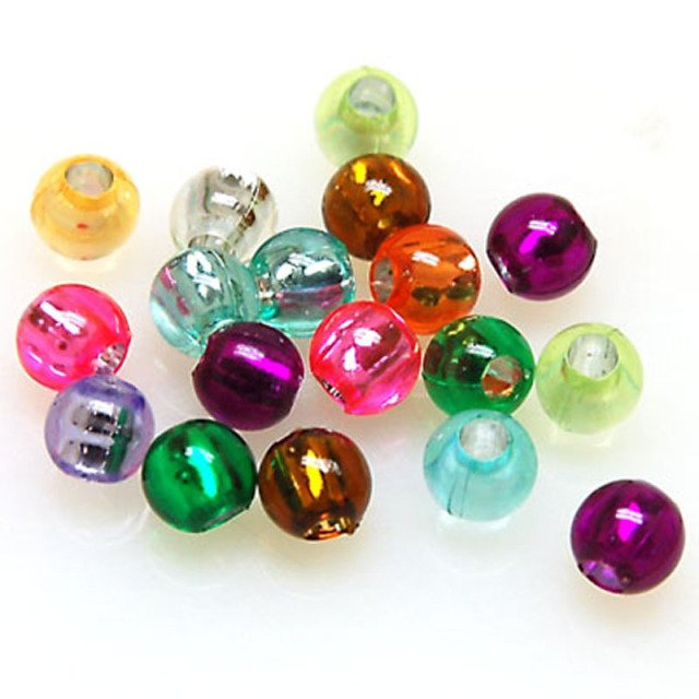 Loose beads 6mm silver foiled plastic beads random mixed color,sold of 3000pcs 9235