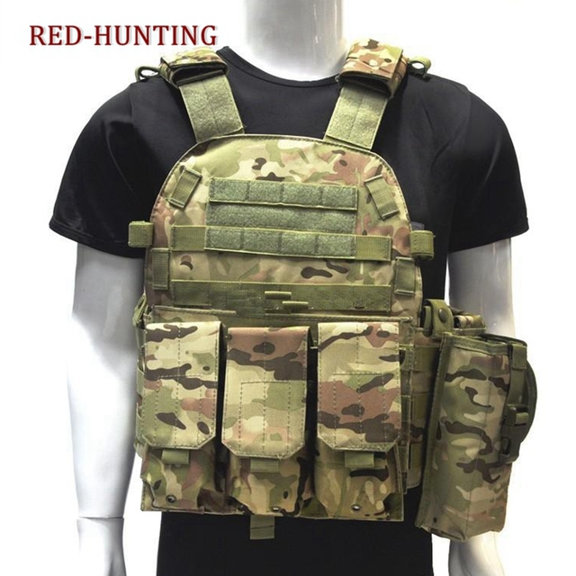 New USMC Airsoft Military Tactical Vest Molle Combat Assault Plate Carrier Tactical Hunting Vest