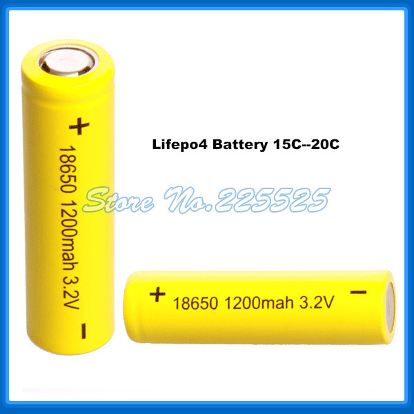 Free Shipping 18650 Battery 8pieces/lot Lifepo4 Rechargeable Battery Cell 3.2v 1100-1200Mah for Airsoft Gun