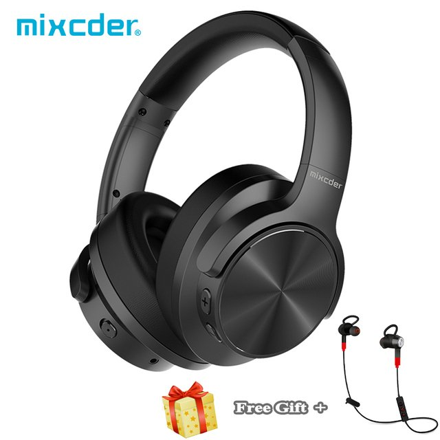 Mixcder E9 ANC Active Noise Cancelling Bluetooth Headphones with Mic Stereo Wireless Earphone + free gift Sport Earbuds Headset