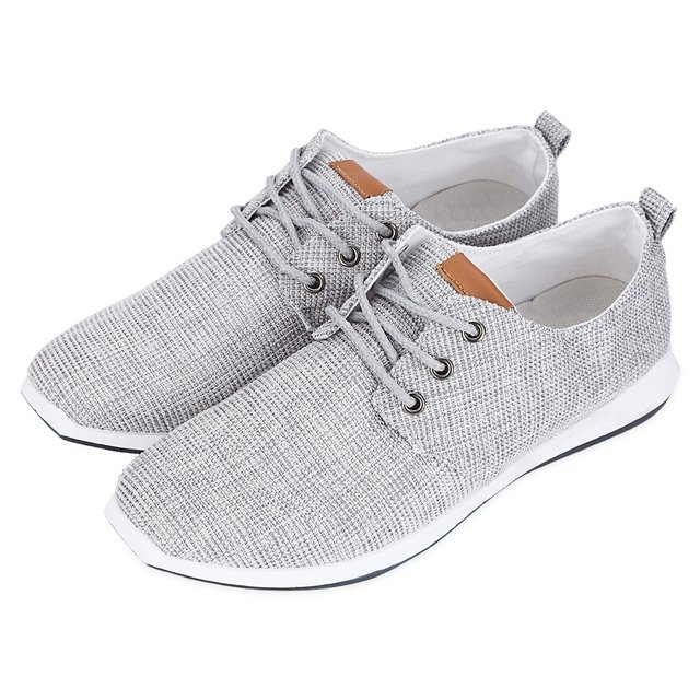 2017 Fashion Men Shoes Casual Pure Color Lace Up Male Breathable Flat Shoes