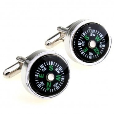 Compass Cufflink 1 Pair Retail Free Shipping Promotion