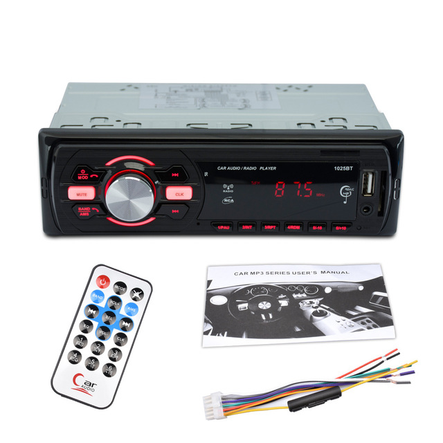 Universal 1 Din Car MP3 Player FM Car Radio Stereo Audio Music Player USB SD Digital Bluetooth with Slot AUX Input In Dash