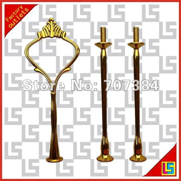 3tier golden small crown cake stand centre handles / cake fitting handles