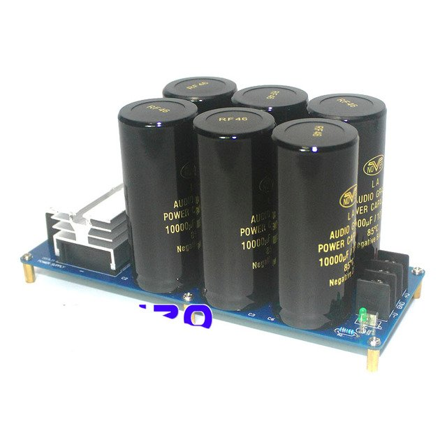high power amplifier board positive and negative double power rectifier filter power board parts HIFI fever 6 10000uF NOVER