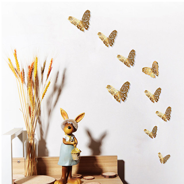 Paster Wall Sticker Removable DIY Metal Effect Home Ornament Decor Decal