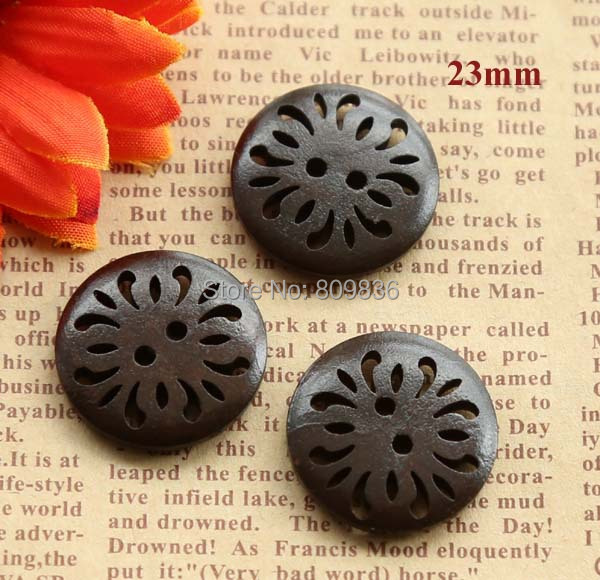 20pcs/lot Size:23mm Gorgeous hollow out  round buttons,sewing wooden buttons for scrapbooking(SS-1070)