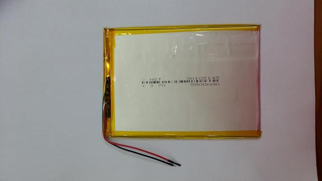 New and original 10 inch flat panel computer lithium polymer battery 3.7V large capacity 5500mAh30105145 Rechargeable Li-ion Cel