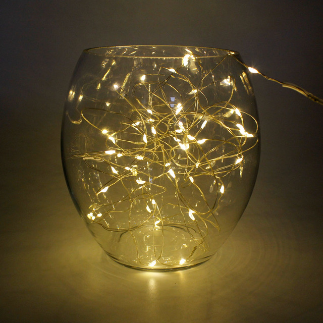 LED Starry String Lights 20 Leds 2M Fairy Micro LED Strip Battery Decoration Lamp Holiday Wedding Light for Christmas Glass