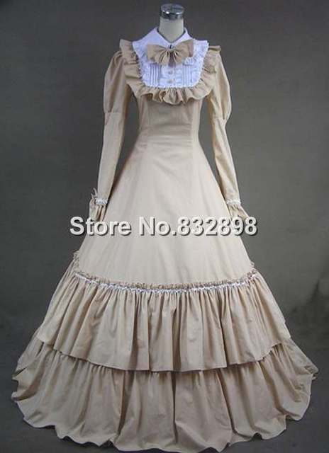 Long Victorian Fashion Costume Gothic  Dress Victorian Ball Gown