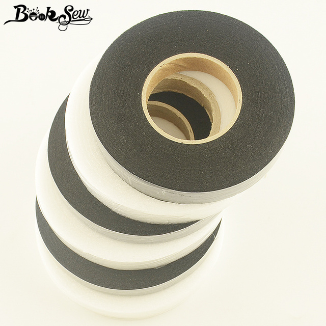 Booksew Fabric Tape Double Faced Adhesive Synthetic Batting White Black For Sewing Patchwork Quilt Lining Diy Craft Supplies