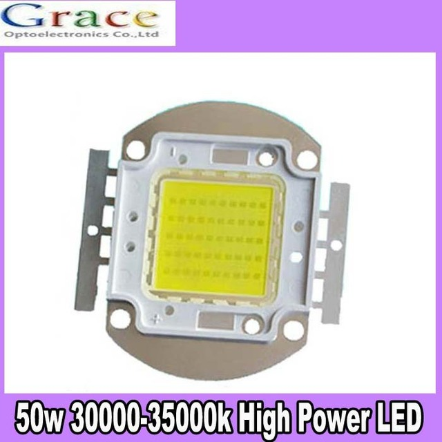 10pcs/lot 50W LED High Power SMD LED Cold White 30000k 30-36V for DIY free shipping