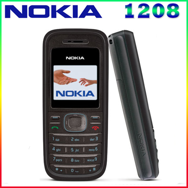 1208 Original Cellular Nokia 1208 Cheap phones GSM unlocked phone Refurbished