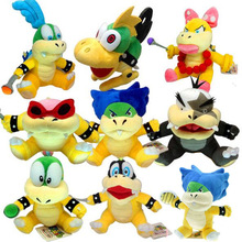 Плюшевые игрушки Супер Марио Koopalings Iggy Roy Larry Lemmy Wendy Ludwig Morton Jr. Koopa Super Mario Bros Bowser Son куклы 18-23 см