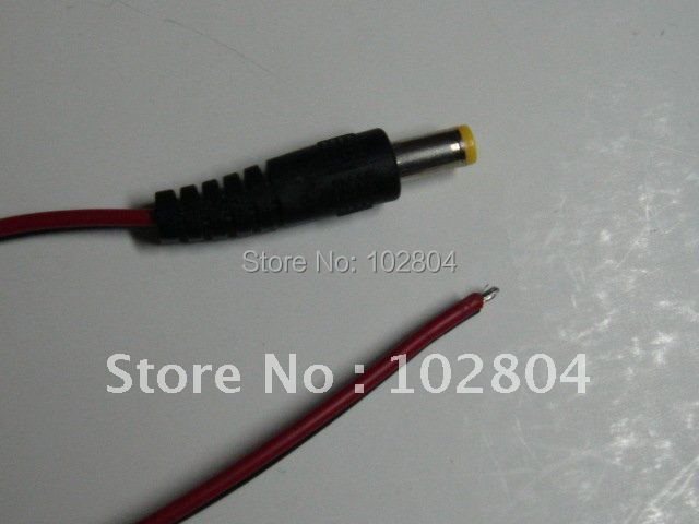 60 Pcs 5.5X2.1mm DC Power Plug Male Connector With Red and Black Cord Cable 30cm HOT Sale High Quality
