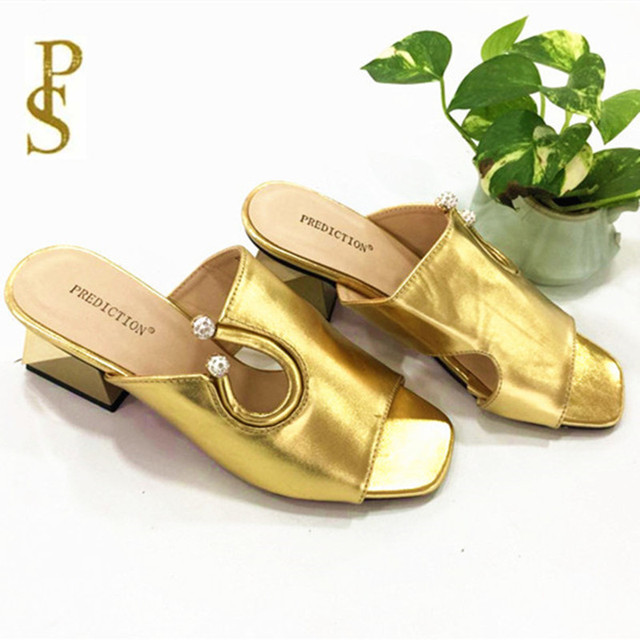 Summer,Fashion,Metal lustre Material,Woman's slipper