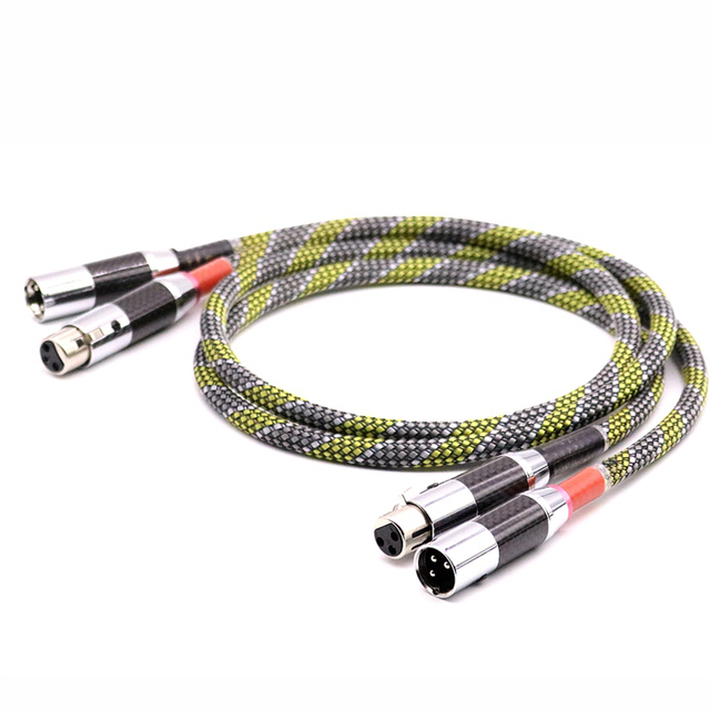 HI-End SQ-888 G5 5N OFC silver plated audio balanced interconnect cable with Carbon fiber XLR plug Audio Video AMP CD XLR Cable
