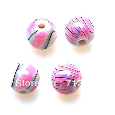 Beads,pink loose beads,plastic 8mm round beads,pink, painted perles,sold of 1850 Pcs per pkg, pink plastic beads